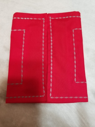 Red Toaster Huggee w-silver stitches